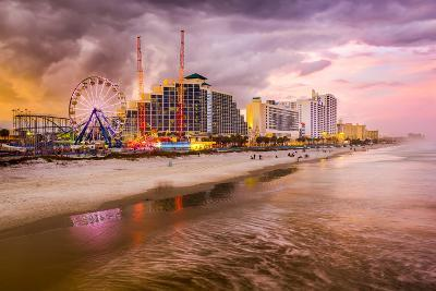 Daytona Beach, Florida, USA Beachfront Skyline.-SeanPavonePhoto-Photographic Print