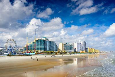 Daytona Beach, Florida, USA Beachfront Skyline.-SeanPavonePhoto-Photographic Print