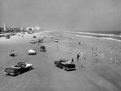 Daytona Beach Is 23-Mile-Long and 600 Feet Wide--Photo