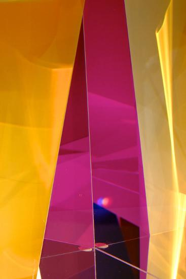 Dazzling Abstract Color in a Close Up View of a Small Detail of Glass Artwork-Paul Damien-Photographic Print