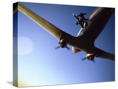 Dc-3 Airplane and Skydivers Zephyrhills, Florida, USA