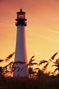 Miami Lighthouse at Sunset by ddmitr