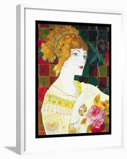 De Feure Smoking Woman II-Vintage Lavoie-Framed Giclee Print