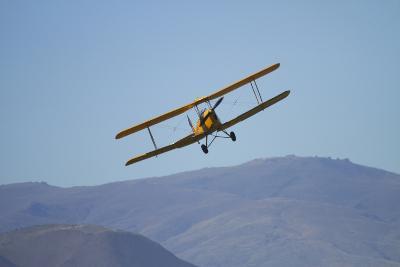 De Havilland Dh 82A Tiger Moth Biplane, Warbirds over Wanaka, Airshow, New Zealand-David Wall-Photographic Print