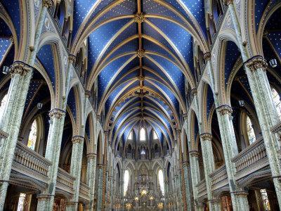 Cathedral and Basilica of Notre Dame Built Between 1839 and 1885, Ottawa, Ontario, Canada