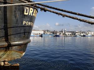 Harbour, Ponta Delgada, Sao Miguel Island, Azores, Portugal, Europe by De Mann Jean-Pierre