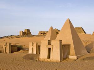Pyramids of Meroe, Sudan, Africa by De Mann Jean-Pierre