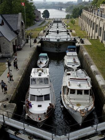 Rideau Canal, UNESCO World Heritage Site, City of Ottawa, Ontario Province, Canada