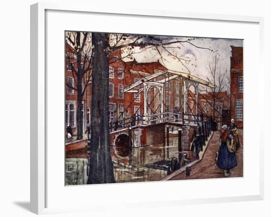 De Oude Rijn, Leiden, 1904-Nico Jungman-Framed Giclee Print
