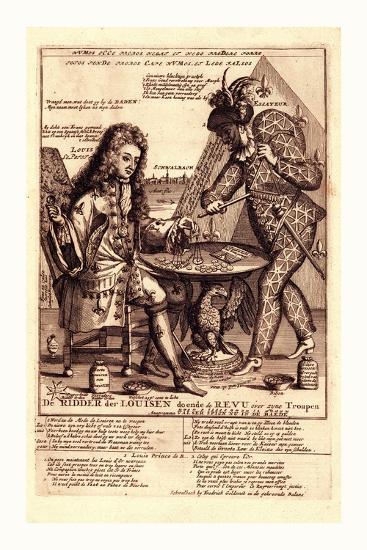 De Ridder Der Louisen Doende De Revu over Zyne Troupen--Giclee Print
