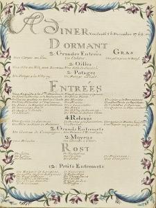 """"""" Voyages du roi au château de Choisy """" en 1752 : souper du vendredi 15 décembre 1752 by de Sainte Marie Brain"""