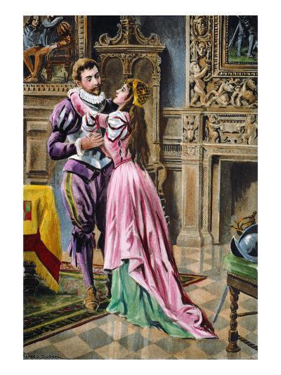 De Soto & Isabella, 1539--Giclee Print