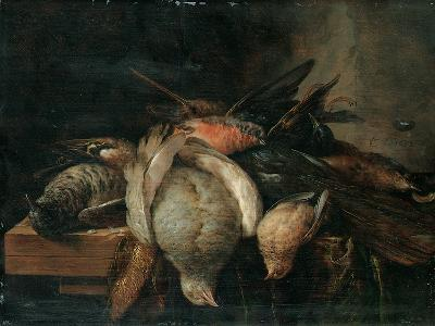 Dead Birds on a Ledge, 1651-Cornelis van Lelienbergh-Giclee Print
