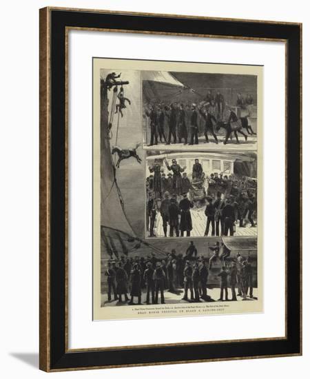 Dead Horse Festival on Board a Sailing-Ship-Joseph Nash-Framed Giclee Print