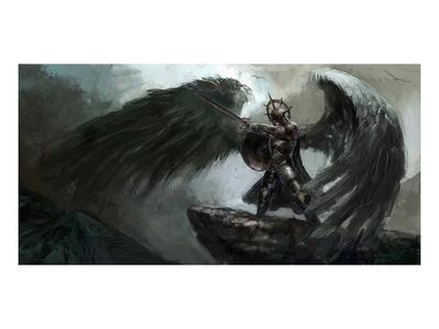 Dead Knight Or Fallen Angel--Art Print