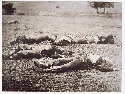 Dead on the Field of Gettysburg, July 1863-American Photographer-Giclee Print