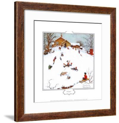Deadman's Hill-Norman Rockwell-Framed Art Print
