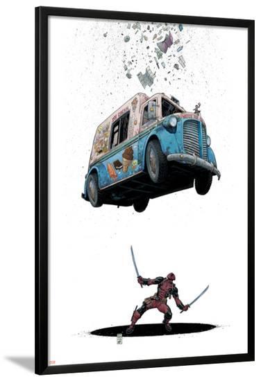 Deadpool #8 Cover: Deadpool-Arthur Adams-Lamina Framed Poster