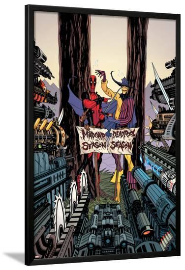 Deadpool: Annual #1 Cover: Deadpool, Madcap-Tradd Moore-Lamina Framed Poster