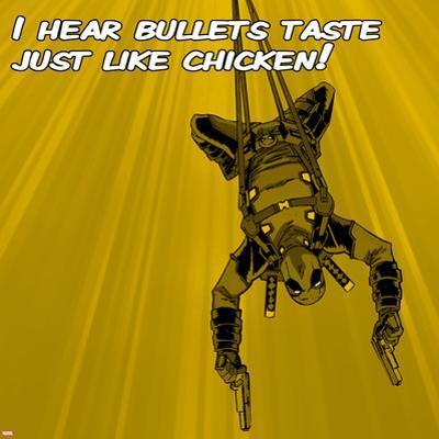 Deadpool - Bullets Taste like Chicken Square