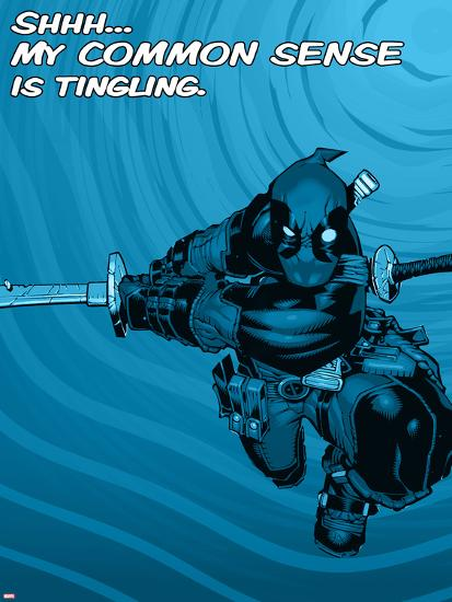 Deadpool - Common Sense--Art Print