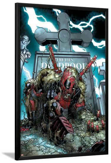 Deadpool Cover Featuring Deadpool--Lamina Framed Poster