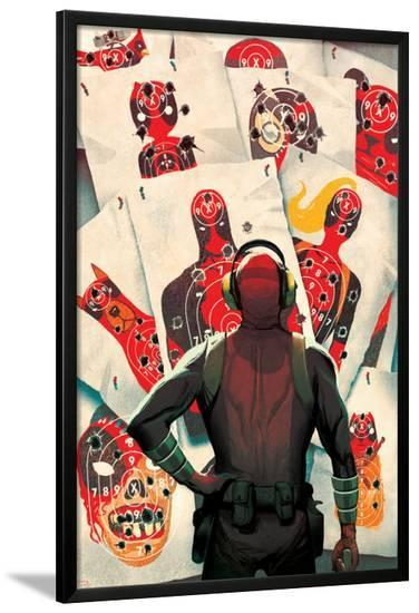 Deadpool Kills Deadpool #1 Cover: Deadpool-Mike Del Mundo-Lamina Framed Poster