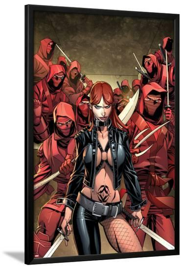 Deadpool No.50: Typhoid Mary with a Sword-Carlo Barberi-Lamina Framed Poster