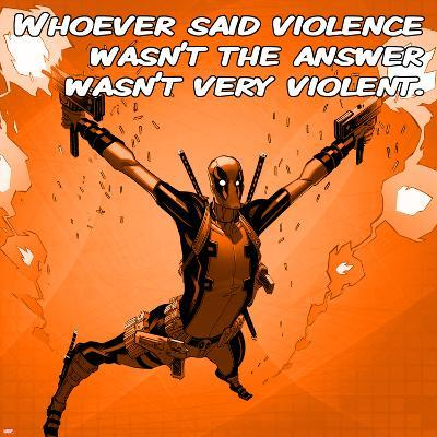 Deadpool - Violence Square--Art Print