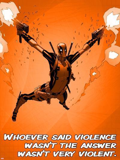 Deadpool - Violence--Art Print