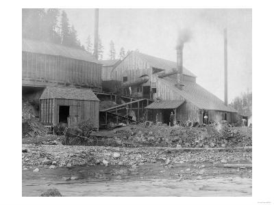 Deadwood and Delaware Smelter Photograph - Deadwood, SD-Lantern Press-Art Print