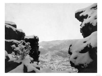 Deadwood as Seen from White Rocks Photograph - Deadwood, SD-Lantern Press-Art Print