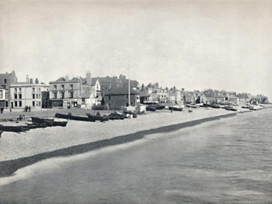 'Deal - Looking Along the Beach', 1895-Unknown-Photographic Print