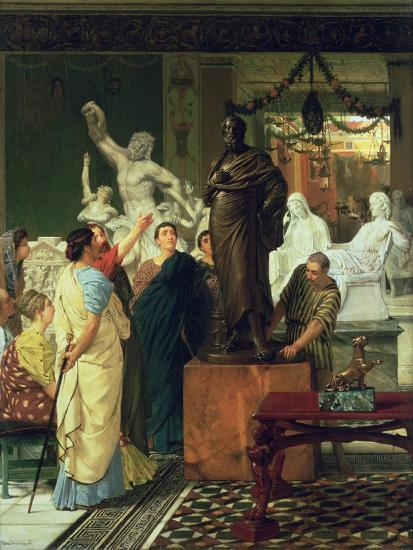 Dealer in Statues-Sir Lawrence Alma-Tadema-Giclee Print
