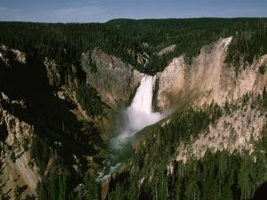Lower Falls in Yellowstone National Park by Dean Conger