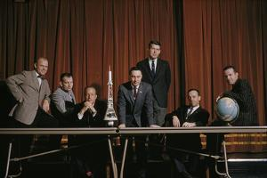 The First Group Of Astronauts Chosen In 1959 For The Mercury Project by Dean Conger