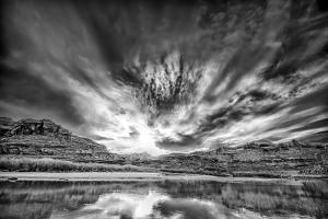 Cloudy Evening on the Colorado River by Dean Fikar