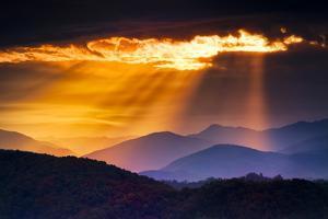 Colorful Autumn Sunrise over the Smoky Mountains by Dean Fikar