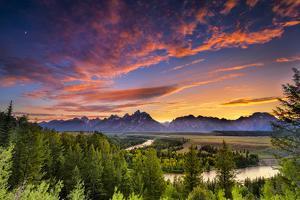 Summer Sunset at Snake River Overlook by Dean Fikar