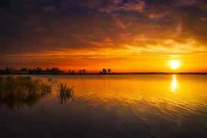 Texas Lake Sunrise by Dean Fikar