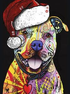 Beware of Pit Bulls Christmas Edition by Dean Russo