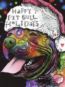 Christmas Pitbull by Dean Russo