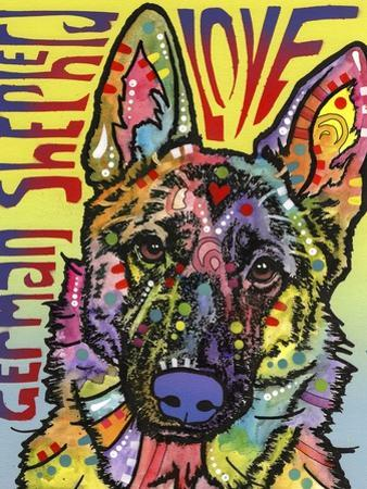 German Shepherd Luv by Dean Russo