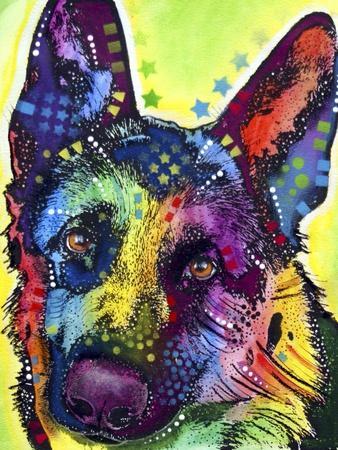 German Shepherd Puppy Dog Giclee FIne Art Print