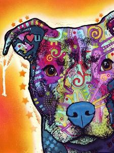 Heart U Pit Bull by Dean Russo
