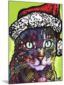 Watchful Cat Christmas Edition by Dean Russo