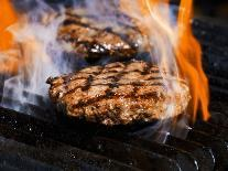 Flame Grilled Burgers on the Grill-Dean Sanderson-Photographic Print