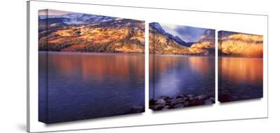 Jenny Lake sun rise 3-Piece Canvas Set by Dean Uhlinger