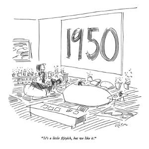"""It's a little fiftyish, but we like it."" - New Yorker Cartoon by Dean Vietor"