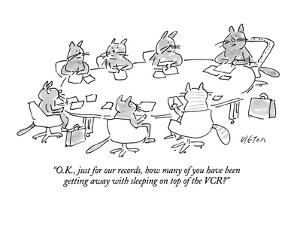"""""""O.K., just for our records, how many of you have been getting away with s?"""" - New Yorker Cartoon by Dean Vietor"""